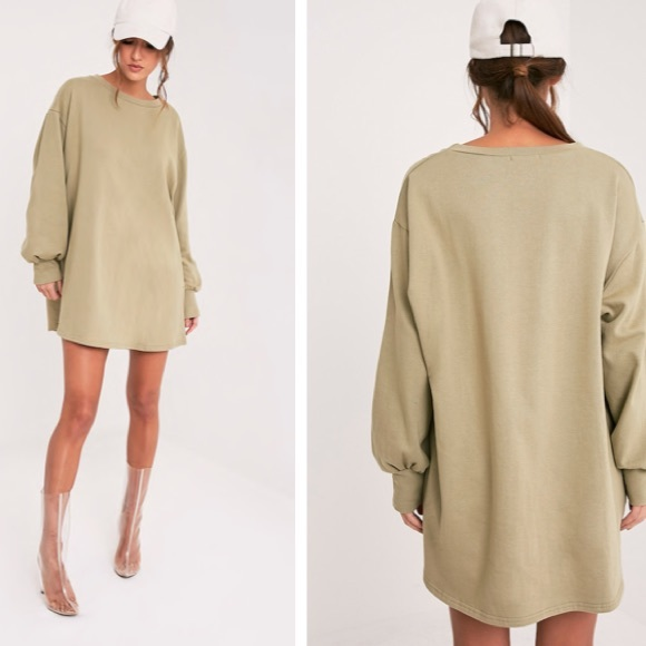 4076bbde3e4 Sianna Sage Green Oversized Sweater